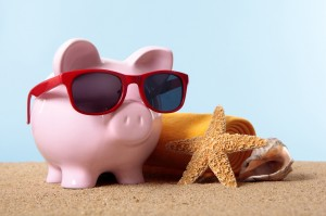 Cerdo en la playa